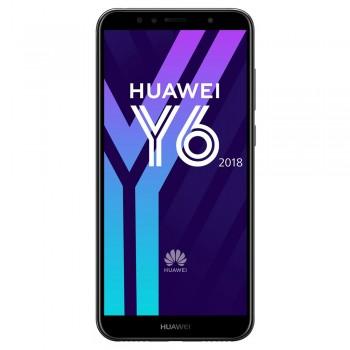 """Huawei Y6 5.7"""" HD+ SmartPhone (2018) - 6gb, 2gb, 13mp, 3000mAh, Black"""