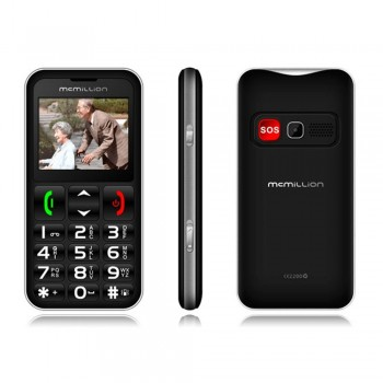 "McMillion CareOne Big Button Elderly Phone - 2.2"" color display, Dual SIM, VGA Camera, 800mAh, Black"