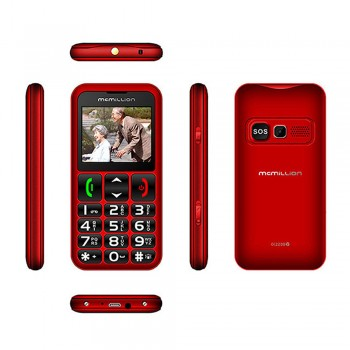 "McMillion CareOne Big Button Elderly Phone - 2.2"" color display, Dual SIM, VGA Camera, 800mAh, red"