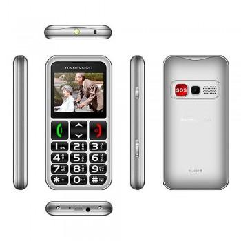 "McMillion CareOne Big Button Elderly Phone - 2.2"" color display, Dual SIM, VGA Camera, 800mAh, Silver"