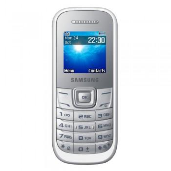 """Samsung Keytone E1200 1.52"""" TFT Basic Phone - GSM 2G, 800mAh, White"""